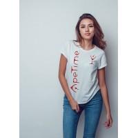 T-Shirt - Logo ApeTime - Donna - Bianca