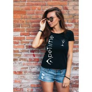 T-Shirt - Logo ApeTime - Donna - Nera